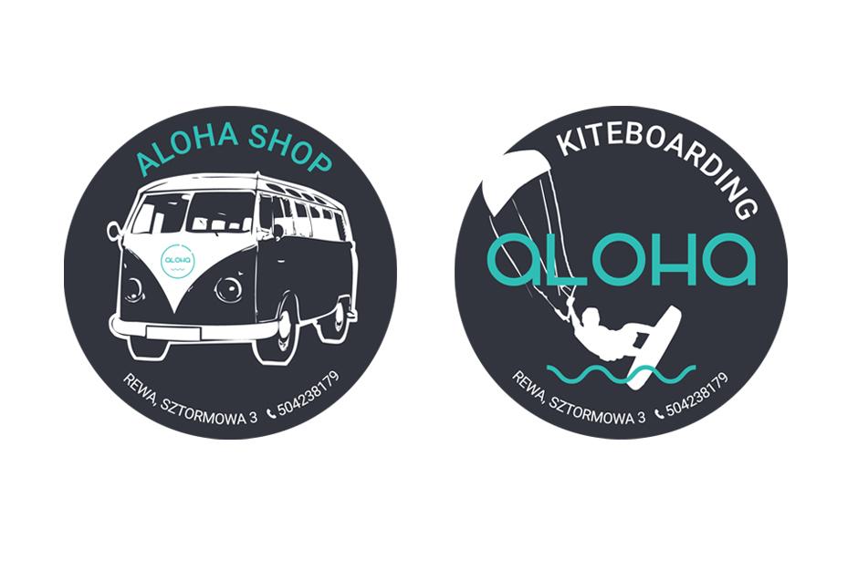 naklejka aloha shop