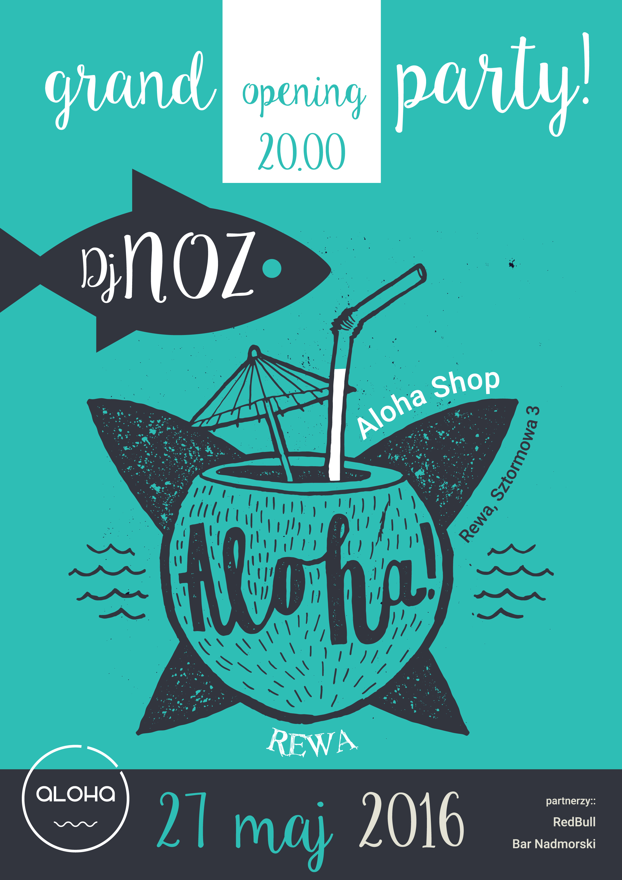 zaproszenie aloha shop
